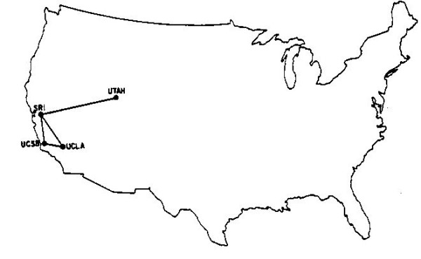 Map of the entire internet in December 1969 600x369 Map of the entire internet in December 1969